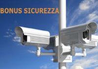 Bonus sicurezza e videosorveglianza 2017